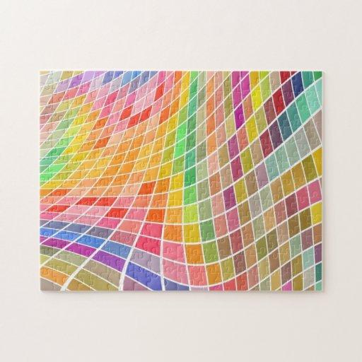 farbige fliesen in einem gewellten profil puzzle zazzle. Black Bedroom Furniture Sets. Home Design Ideas