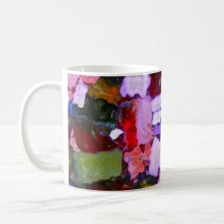Farbige Glitter-Stellen Kaffeetasse