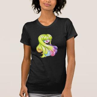 Farbige Haar-Schönheit T-Shirt