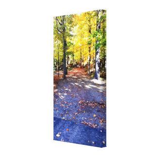 Farbige Herbst-Weg-Leinwand Leinwanddruck