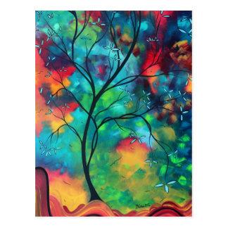 Farbige Inspirations-Postkarte Postkarte