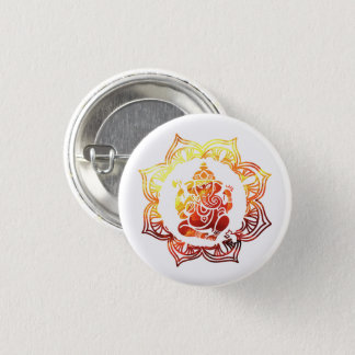 Farbige Meditation Runder Button 2,5 Cm