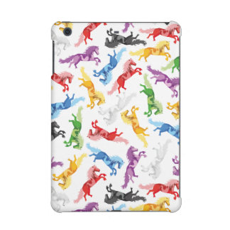 Farbige Muster-springende Pferde