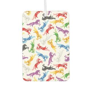 Farbige Muster-springende Pferde Autolufterfrischer