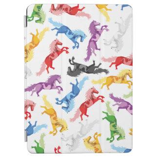 Farbige Muster-springende Pferde iPad Air Cover