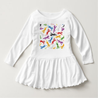 Farbige Muster-springende Pferde Kleid