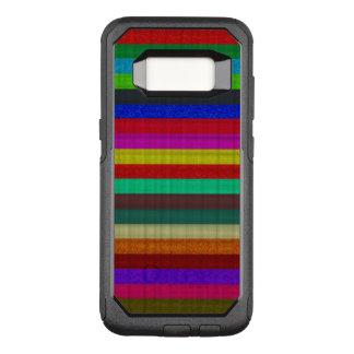 Farbige Streifenfliesenbeschaffenheit OtterBox Commuter Samsung Galaxy S8 Hülle