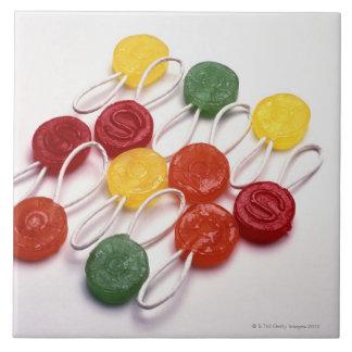farbige Süßigkeit Große Quadratische Fliese