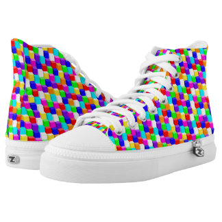 Farbige Würfel Hoch-geschnittene Sneaker