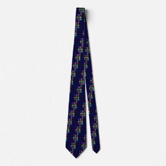 Farbige Zahlen Krawatte