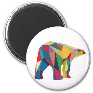 Farbiger Bär Runder Magnet 5,7 Cm