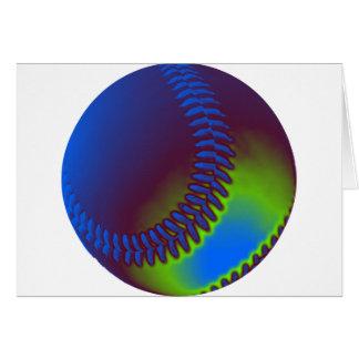 Farbiger Baseball Karte