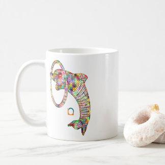 Farbiger Delphin 3D Kaffeetasse