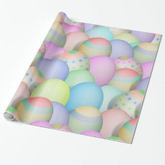 Farbiger Osterei-Hintergrund Geschenkpapier