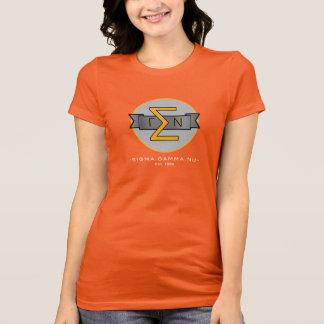 Farbiger T - Shirt Sigma-Gamma-NU offizielles Gold
