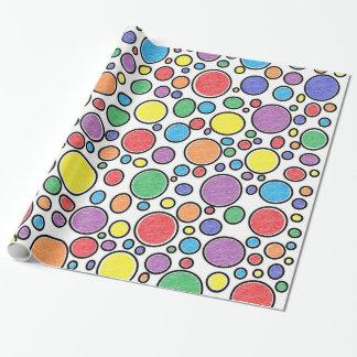 Farbiges Blasen-Packpapier Geschenkpapier