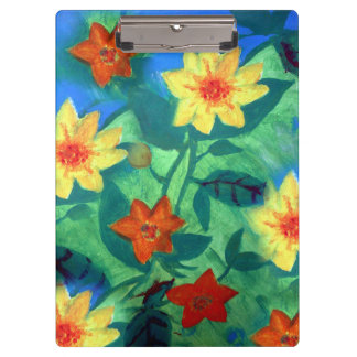 Farbiges Blumen-Klemmbrett Klemmbrett