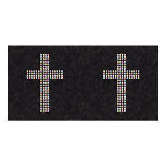Farbiges Edelstein-Kreuz Bilderkarten