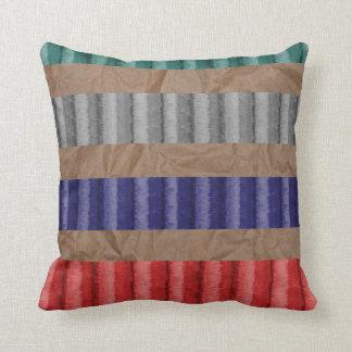 Farbiges gewelltes Pappbrown-Papier Kissen