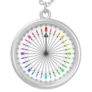 Farbiges Kompass-Navigationsinstrument Schmuck