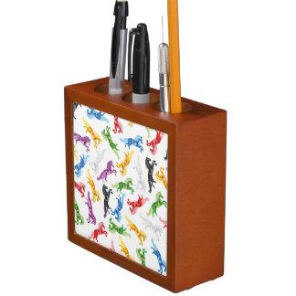 Farbiges Muster-Einhorn Stifthalter