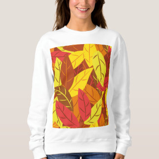 Farbiges warmes Blätter des Herbstes Muster Sweatshirt