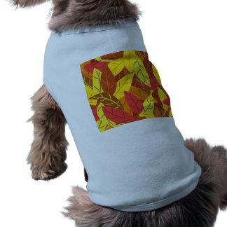 Farbiges warmes Blätter des Herbstes Muster T-Shirt