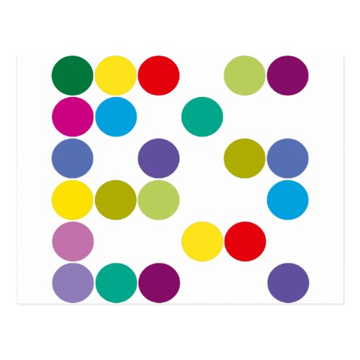 Farbkreis-Produkte u. Entwürfe! Postkarte