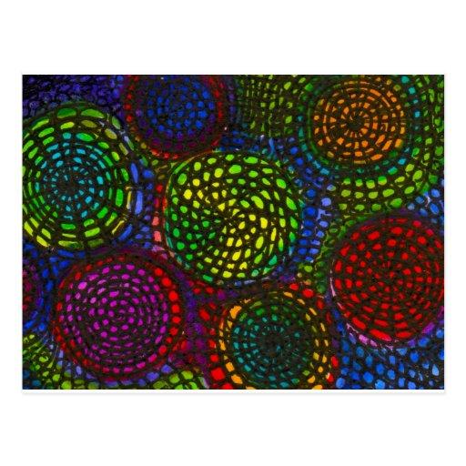 Farbkreise Postkarte