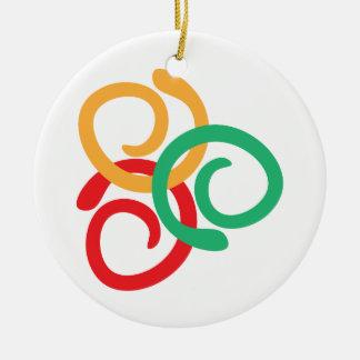 Farblogo Keramik Ornament