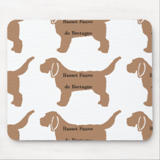 Farbnamen-Silhouette Basset Fauve de Bretagne Mauspad