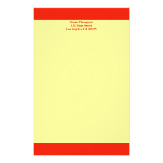 Farborange Büropapiere