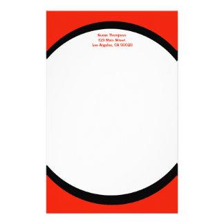 Farborange Personalisiertes Büropapier
