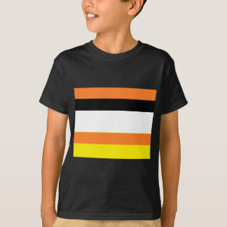 Farborange weißes Schwarzes T-Shirt