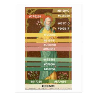 Farbpalette für St Joseph (SAU 35) Postkarte