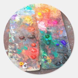 Farbpalette Runder Aufkleber