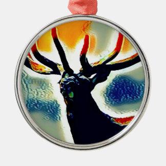 Farbpunkte Silbernes Ornament