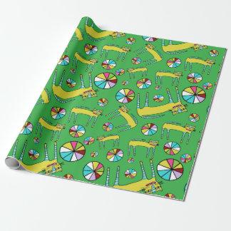 Farbrad-Katzen-Packpapier Geschenkpapier