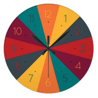 Farbrad-kreative Spaß-Wanduhr Uhren