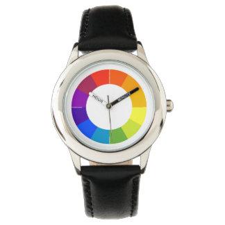 Farbrad-Uhr (Mehrfarben) Handuhr