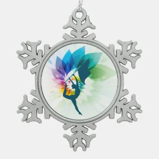 Farbschutz-Weihnachtsverzierung Schneeflocken Zinn-Ornament