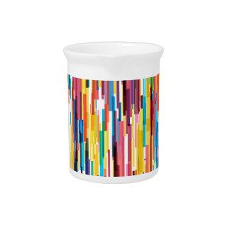 Farbspiess-Muster Krug