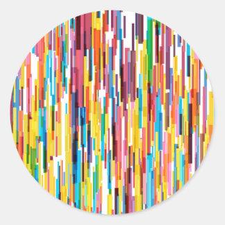 Farbspiess-Muster Runder Aufkleber