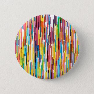 Farbspiess-Muster Runder Button 5,1 Cm