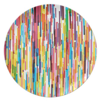 Farbspiess-Muster Teller