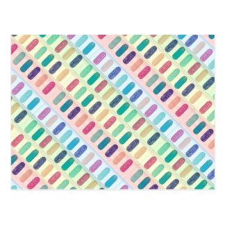 Farbstreifen-Entwurfs-Muster Postkarten