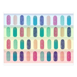 Farbstreifen-Entwurfs-Muster Postkarte