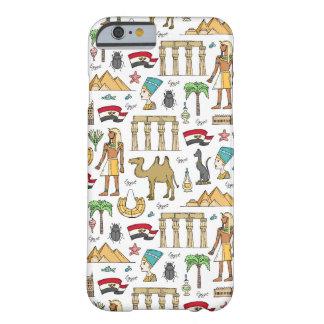 Farbsymbole von Ägypten-Muster Barely There iPhone 6 Hülle