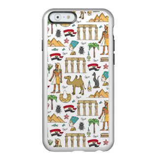 Farbsymbole von Ägypten-Muster Incipio Feather® Shine iPhone 6 Hülle