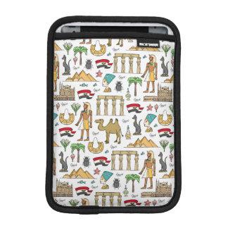 Farbsymbole von Ägypten-Muster iPad Mini Sleeve